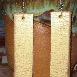 Upcycled Leather Earrings